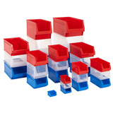 HEAVY DUTY STORAGE BIN 140x274x127mm RED