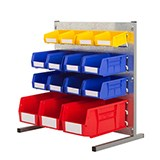 BENCH STAND KIT P 457X457MM LOUVRE + 10 BINS (4X10/3X25/3X30)