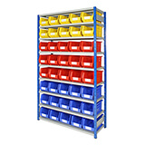 BOLTLESS EXPO SHELVING WITH BINS 2000HX1150WX400DMM - 40 BINS