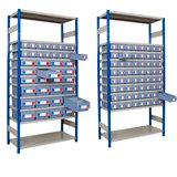 BOLTLESS EXPO SHELF KIT A 1000x300x2000mm - 40 SHELF TRAYS