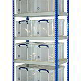 REALLY USEFUL BAY 1830H 915W 460D 8 x 35Ltr CLEAR BOXES