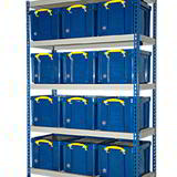 REALLY USEFUL BAY 1830H 1525W 460D 12 x 42Ltr CLEAR BOXES