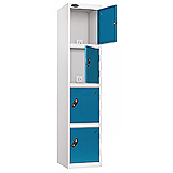 4 COMPARTMENT CHARGING LOCKER 1780X380X525MM BLUE