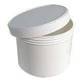 PLASTIC SCREW TOP CONTAINERS WHITE 250ML