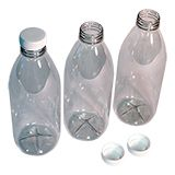 ROUND CLEAR PET BOTTLES 250ML