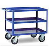 HD STEEL T/TROLLEY 500kg 2 SHLV 900x500
