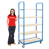 SHELF TROLLEY ORDER PICKER 1900H x 100W x 500Dmm BLUE