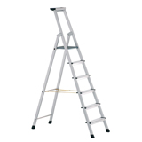 ALU. PLATFORM LADDER 4 TREAD