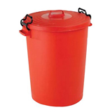 BLUE LIGHT DUTY DUSTBIN -110L- 67x52cm