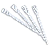 PLASTIC WHITE DRINK STIRRERS- 1500PK