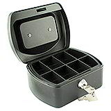 CASH BOX - 6in 152x125x81mm - BLACK