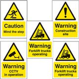 WARNING SIGN, MIND STEP, PLASTIC - 148 x 210mm - PACK 5