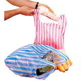 Striped Plastic Carrier Bags