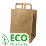 ECONOMY PAPER CARRIER BAG BROWN 180x90x220