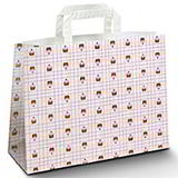 WIDE BOTTOM PAPER CARRIER BAG MUFFIN 320x180x245