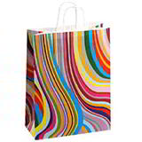 Brightly Coloured Paper Carrier Bags