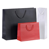 GIFT BAGS WITH CORD HANDLES - ANTHRACITE - 110x90x360+40 - PACK 10