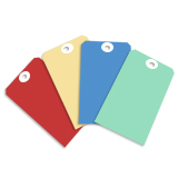 Coloured Paper Tags