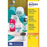 AVERY REMOVABLE LABELS ROUND 25mm WHITE (PK 1200) L4850REV-25
