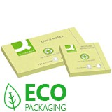 RECYCLED YELLOW STICKY NOTES - 75x75mm - 100 SHTS