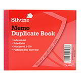 DUPLICATE BOOKS - MEMO RULED - 102 x 127 mm