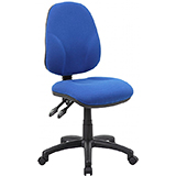 2-LEVER OPERATOR CHAIR - AQUA - FLAT PACKED