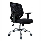 MESH BACK OFFICE CHAIR - BLACK - FLAT PACKED