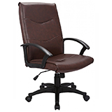 EXECUTIVE LEATHER OFFICE CHAIR - BLACK - FLAT PACKED