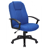 FABRIC OFFICE CHAIR - BLACK - FLAT PACKED
