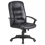 MANAGER OFFICE CHAIR - BLACK - FLAT PACKED