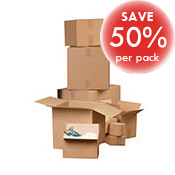 S/W Brown Cardboard Boxes 600L x 484W x 302H