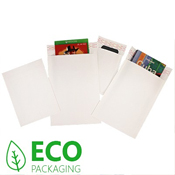 White Corrugated Eco Mailers 180 x 265mm Pack 100