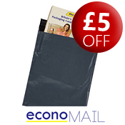 econoMAIL Grey Polythene Mailing Bags - 250 x 350mm