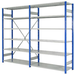 Shelving - Blue & Grey