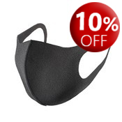 Reusable black face masks - one size fits all